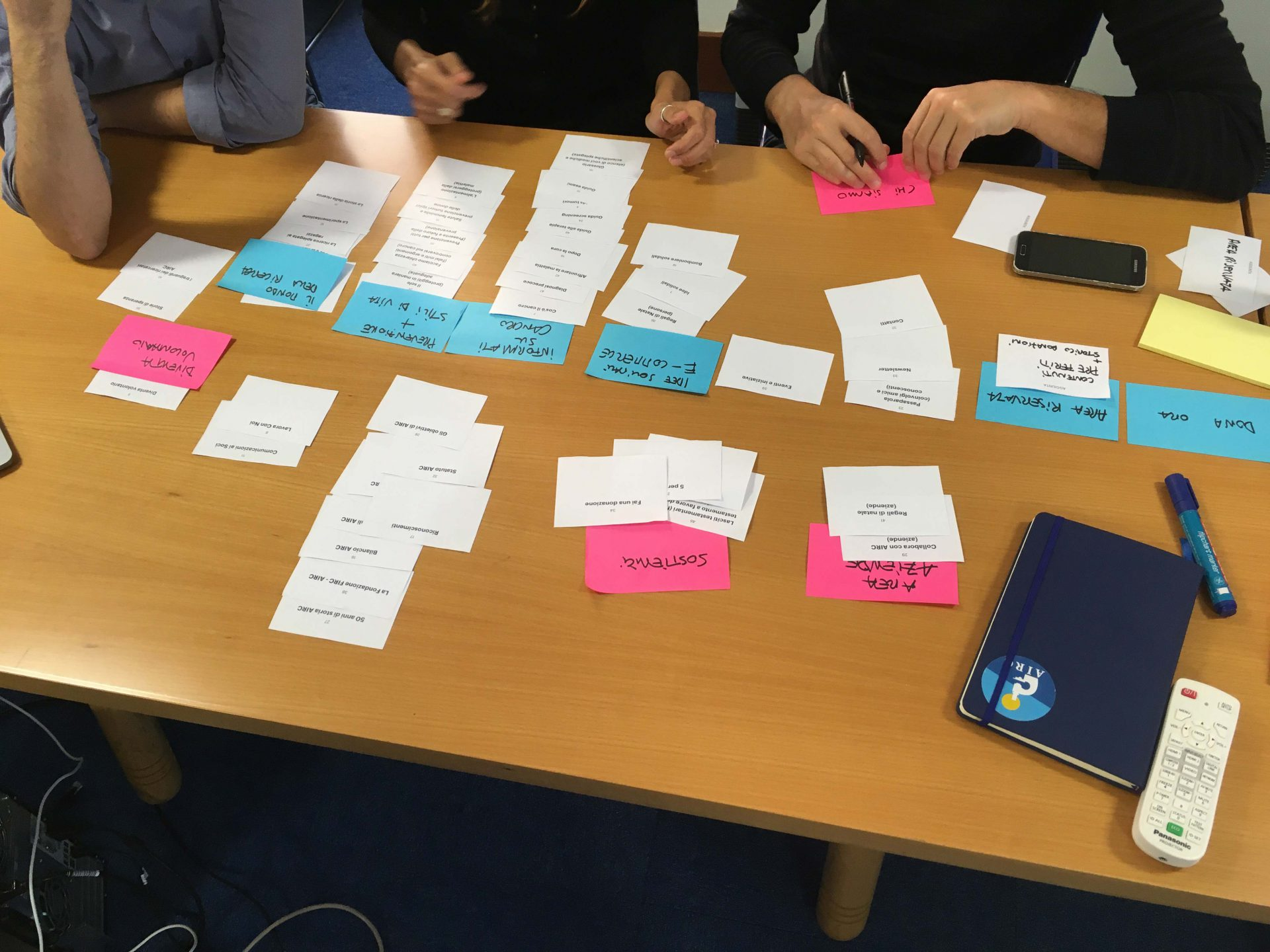Card Sorting for designing Information Architecture