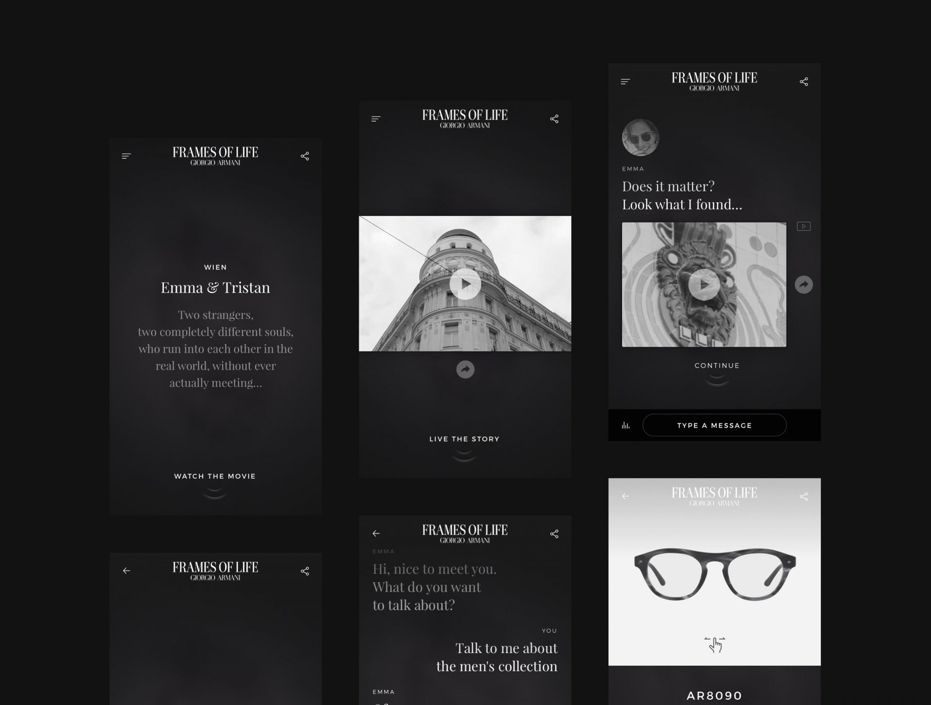 Mobile layouts used to present style application